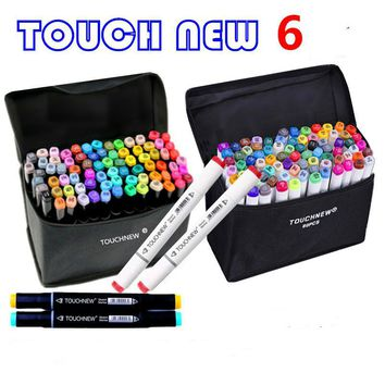 168 Colors Art Marker Double Headed Sketch Alcohol Based Marker Pen 30 40 60 80 PCS Set Paint Sketch Art Copic Marker