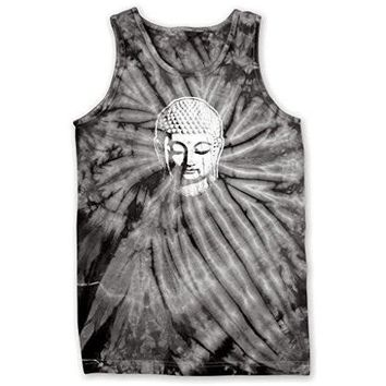 Yoga Clothing for You Mens Little Buddha Head Tie Dye Tank Top