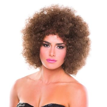 Brown Solid Color Foxy Afro Wig