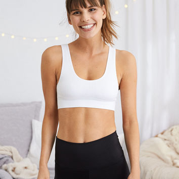 Aerie CHILL Sports Bra, White