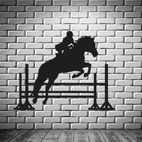 Jockey Horserace Horse Polo  Mural  Wall Art Decor Vinyl Sticker Unique Gift z333