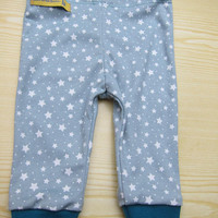 Baby Pants with greenisch gray stars in 3-6mo