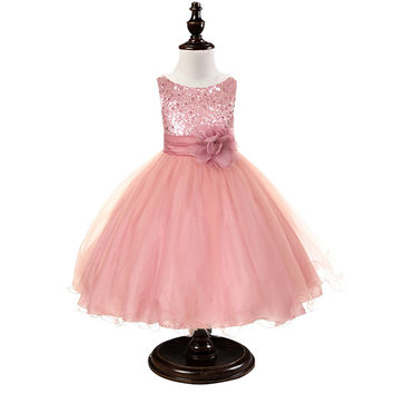 New Flower Princess Wedding Dress For Girls