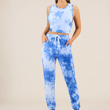 Sky's The Limit Tie-Dye Top And Pant Set