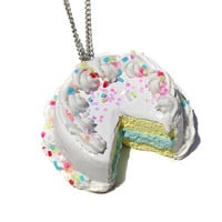 Pastel Birthday Cake Necklace