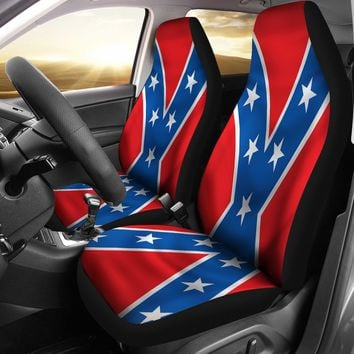 Rebel Flag Seat Covers Confederate