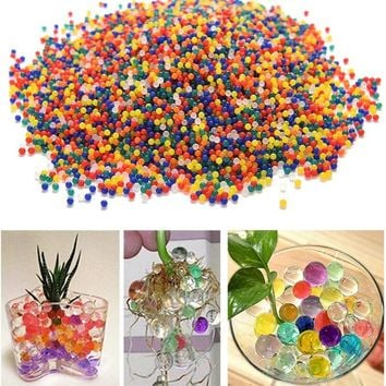 10000PCS Bag Home Decor Pearl Shaped Crystal Soil Water Beads Bio Gel Ball For Flower Weeding Mud Grow Jelly Balls