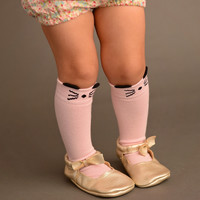 Pink Mouse Socks  - Babies & Toddlers!