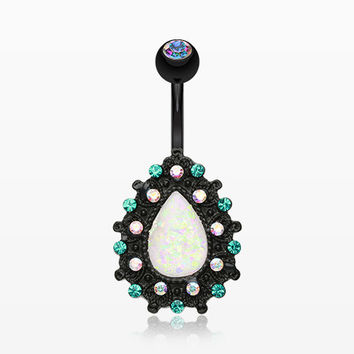 Colorline Eirene Opal Belly Button Ring