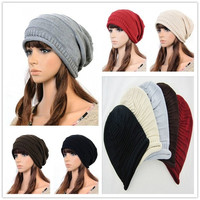 New 2014 Fashion Winter Woman Man Hot Knit Hat Beret Skull Cap Ski Sport Knitted Beanie = 1946214788