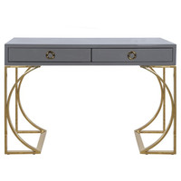 Worlds Away Vanessa Two Drawer Desk