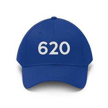 Kansas 620 Area Code Embroidered Twill Hat