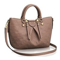 LV Authentic Louis Vuitton Mazarine PM Bag Handbag Article: M50709 Taupe Made in France
