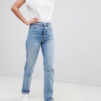 ASOS TALL RECYCLED FLORENCE AUTHENTIC Straight Leg Jeans In Spring Light Stone Wash at asos.com