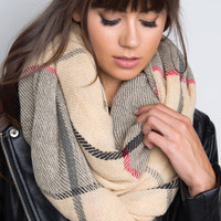 Holly Plaid Infinity Scarf