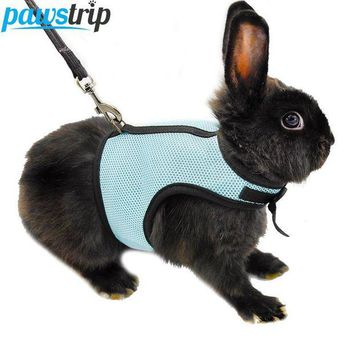 DCCKWQA 3 Colors Hamster Rabbit Harness And Leash Set Ferret Guinea Pig Small Animal Pet Walk Lead S/M/L