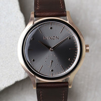 Nixon Sala Rose Gold and Burgundy Leather Watch