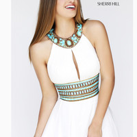 Halter Bib Neckline Sherri Hill Formal Prom Dress 11086
