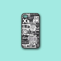 The xx, coldplay, arctic monkeys, sleeping with sirens ,The 1975 Band,5SOS  - Print on hard cover for iPhone case and Samsung Galaxy case