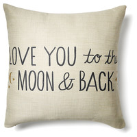"""To The Moon"" 20x20 Pillow, Ivory, Decorative Pillows"