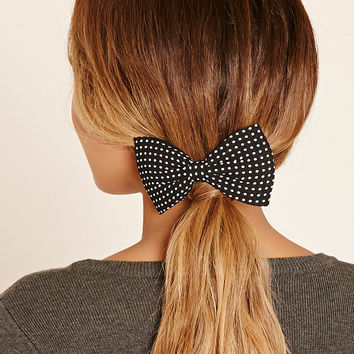 Dotted Bow Hair Clip