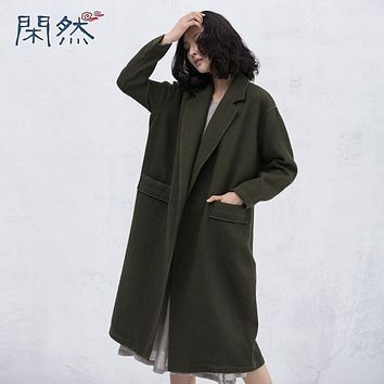 Xianran Women Coat Casual Loose Overcoat Long Trench Coat Tailored Collar Plus Size Outwear High Quality 2017