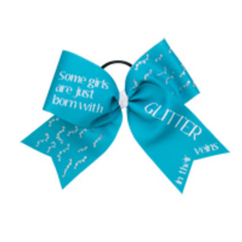 Girls with Glitter Stock Fusion™ Bow | Team Cheer ©
