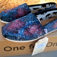 Custom Galaxy Toms by PaintedFeatherArt on Etsy