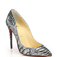 Christian Louboutin - Pigalle Glittered Animal-Print Pumps - Saks Fifth Avenue Mobile