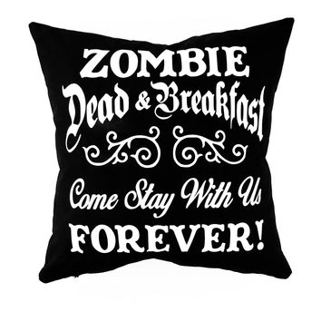 Zombie Pillow w/Feather Fil Insert, Glow in the Dark, Halloween Pillow, Halloween Decor, Fall Pillow, Fall Decor, Home Decor, Pillow Cover
