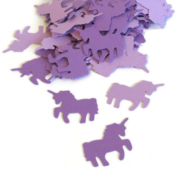 Unicorn Confetti - whimsical party decorations - 100 pieces