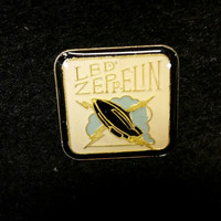 Vintage Led Zeppelin Metal And Enamel Pin