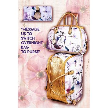 Arosa Fragrance 3PC Set | Women's Duffel Set with Clutch & Bag