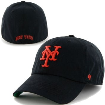 New York Mets Cooperstown Franchise Fitted Hat – Black