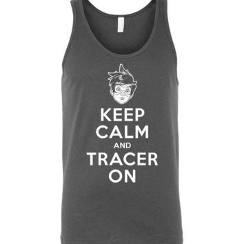 Keep Calm And Tracer On Unisex Tank Top
