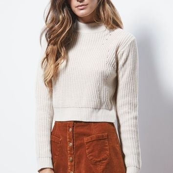 Kendall & Kylie Cropped Fitted Pullover Sweater - Womens Sweater