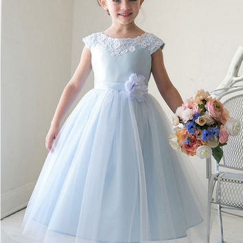 Children Blue Prom Dress [4919227268]