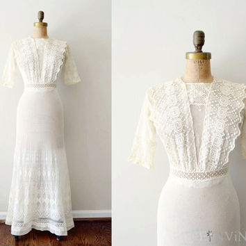 vintage 1910s dress edwardian wedding dress / by shopREiNViNTAGE