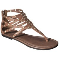 Women's Mossimo Supply Co. Odella Gladiator Stud Sandal - Brown