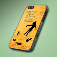 Disney Peter Pan Quote Vintage - Hard Case Made From Plastic or Rubber - For iPhone 4/4s, 5, 5c, 5s, iPod 4, 5, Samsung S3, S4