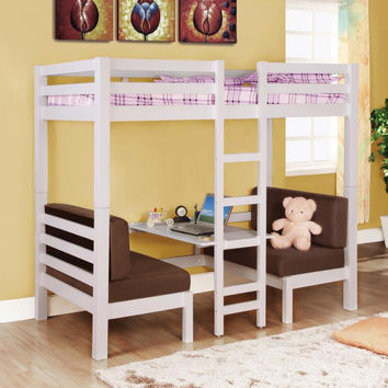 Coaster Fine Furniture Twin/Twin Convertable Loft Bed White 460273