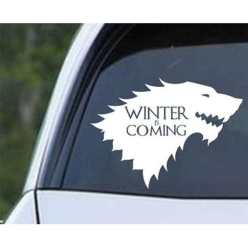 Game of Thrones House Stark Direwolf ver b Die Cut Vinyl Decal Sticker