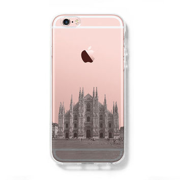 Milan Cathedral  iPhone 6s Clear Case iPhone 6 plus Cover iPhone 5s 5 5c Transparent Case Samsung Galaxy S6 Edge S6 Case
