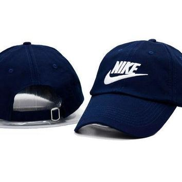 Fashion Unisex Navy Blue Nike Embroidered Baseball Cap Hat