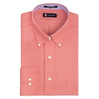 Chaps Classic-Fit Oxford Solid Button-Down Collar Dress
