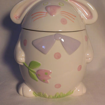 Rabbit Cookie Jar  (397)