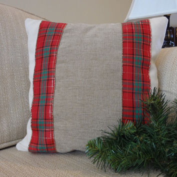 Christmas Pillow Cover, Holiday Cushion