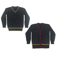 Fall Winter Knit Sweater 4 Style Gryffindor Hufflepuff Ravenclaw Slytherin Long Sleeve Sweater Cardigan For Harry Potter Cosplay