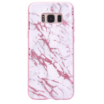 White Marble Pink Chrome Samsung Galaxy Case
