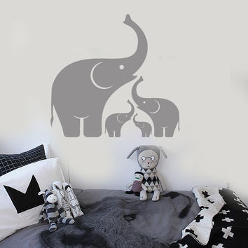 Vinyl Wall Decal Elephant Family Baby Room African Animals Stickers Mural Unique Gift (ig4955)